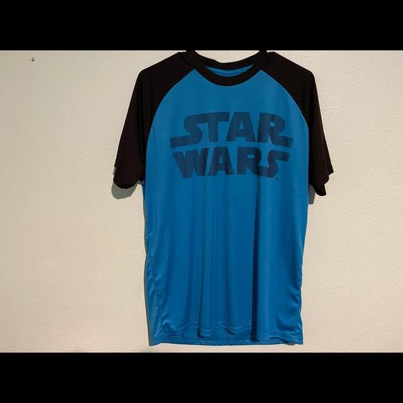 Star Wars Men's Black & Blue T Shirt Size Large